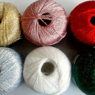 Filato lurex per maglia ed uncinetto