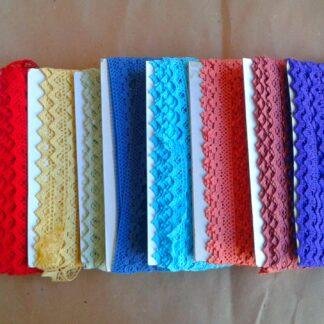 Pizzi cotone colorati